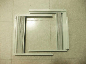 Air Conditioner Window Side Curtain and Frame