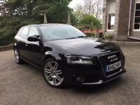 AUDI A3 S LINE SPORTBACK 5dr 1.6Tdi, ONLY 38650mls, FSH, 1 YEAR WARRANTY, **FINANCE AVAILABLE**