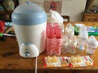 NUK steriliser and bottles
