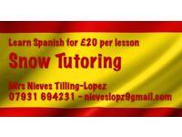 Spanish tutor - £20 per hour