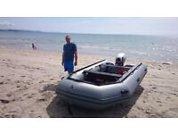 Inflatable boat sib Rib Excel 4.35m with 15hp Outboard and trailer 2015 video walk around