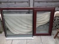 Good condition UPVC window / 1540 wide x 935 high / Oak external
