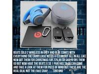 Beats Solo 2 Wireless Grey & Blue