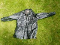 leather car coat, men's, large, Member's Only,
