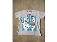 """Brand New Genuine """"Olaf"""" Disney Frozen T-Shirts Ages 8-9 years"""