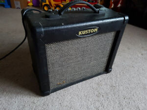 Practice amp, pedal and cables