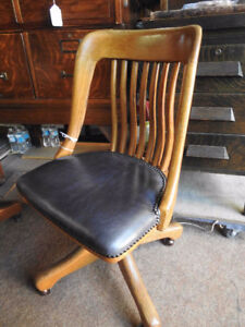 antique vintage krug office chair no arms new grey leather