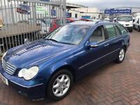 2002 MERCEDES BENZ C CLASS C200 ESTATE PRIVATE PLATE LOW MILES SERVICE HISTORY CHEAP WITH NEW MOT !