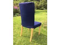 4 Ikea dining chairs, Henriksdal style, beech legs