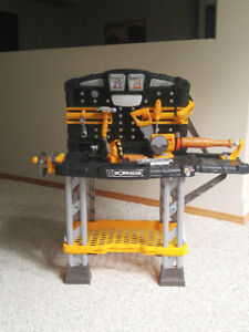 Toy Workbench and Extra Tools