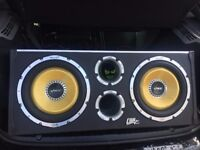 """Vibe Twin CBR 12"""" SUBS with built in 3200 watt Amp"""