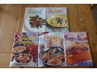 collection of Australian Womens Weekly cook books spanish French Sauces Seafood Tread the globe