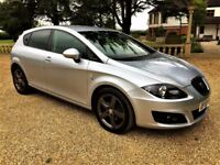 SEAT LEON 2.0 TDi Sport, FSH, MOT July 2018, Excellent All Round (silver) 2010
