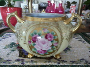 """Lovely Vintage """"Nippon"""" 3 Handled, 3 Footed Bowl"""