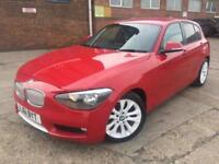 BMW 118 2.0 TD 2012 Urban 5 Door Manual RED FULL SERVICE HISTORY + LEATHER + PDC