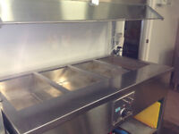 CLEAN 4 COMPARMENT STEAM TABLE
