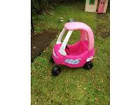 Little Tikes/Tykes Pink Cozy Coupe Car