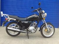 SHOWROOM CONDITION SINNIS JC 125 , HPI CLEAR , ONLY 900 MILES