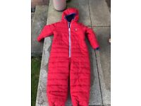 Red all in one suit age 5-6