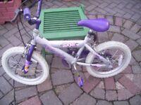 girls bike 16 inch wheels 5\7 year old