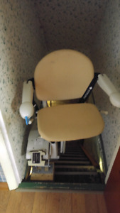Two different Battery powered chair lift system for stairs