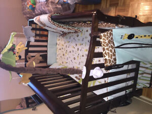 Babys  bed bassinet and bedding