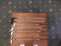 Small set of golf clubs