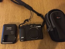 Canon G16 power shot digital camera and accessories