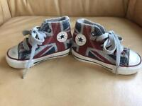 Used, Converse Size 3 Infant Union Jack Shoes for sale  Essex
