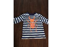 Boden long sleeved top size 6-7