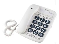 OPTICOM BIG BUTTON CORDED TELEPHONE – WHITE - QTY 2