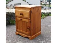 Lovely Pine Bedside Cupboard Cabinet With Drawer