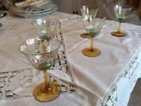 Pre War Hand painted decorative glasses