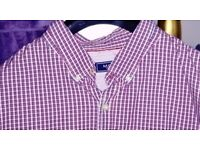 LOVELY MEN'S NAVY/RED CHECK SHIRT - SIZE XXL