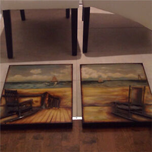 Painting / Wall Decor on metal (2 pieces)
