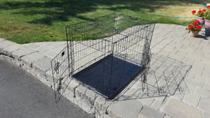 Large dog kennel and cover for sale