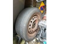 1 r15 4 stud honda steel wheel / 195 / 60 / r15 tyre