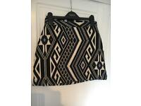 Aztec pattern skirt from asos - size 6