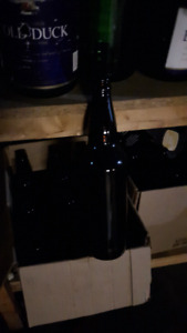 Lot of 750ml beer bottles