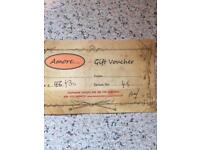 Amore gift voucher