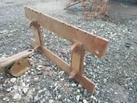 Tractor front loader pallet forks backplate