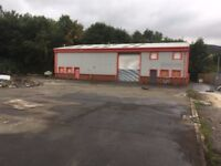 Warehouse Factory Storage unit to rent with large yard