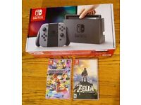 Nintendo Switch Neon & Two Games, only two weeks old.