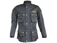 Sale New Men's Stein STJ520 Heritage Motorcycle Jacket Black - Was £99.99 - Now £79.99