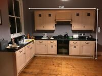 Timber framed kitchen in style of Rennie Mackintosh