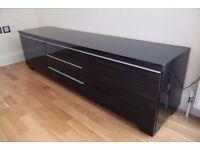 ikea large black gloss tv unit