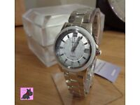 Casio SHE-4512D-2AUER Ladies 'Sheen' Silver Tone Watch with Swarovski Elements. RRP £150