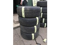 215/55/16 Dunlop Winter tyres like new x4