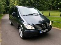 Mercedes Vito 2.2 Diesel Auto 115LWB 8 Seater Minibus FMD history Superb drive £4999 vans MPV