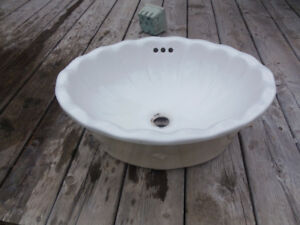 Coventry porcelain drop in  bathroom sink
